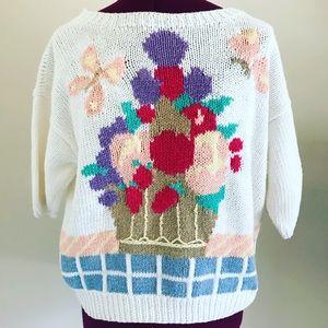 Susan Bristol vintage hand embroidered sweater